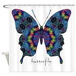 Festival Butterfly Shower Curtain