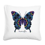 Festival Butterfly Square Canvas Pillow
