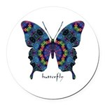 Festival Butterfly Round Car Magnet