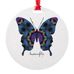 Festival Butterfly Round Ornament