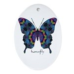 Festival Butterfly Ornament (Oval)
