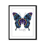 Festival Butterfly Framed Panel Print