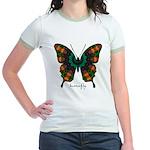 Power Butterfly Jr. Ringer T-Shirt