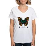 Power Butterfly Women's V-Neck T-Shirt