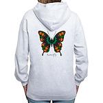 Power Butterfly B Women's Zip Hoodie