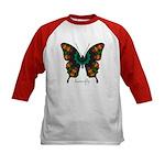 Power Butterfly Kids Baseball Jersey