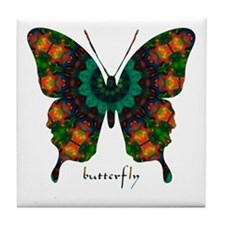 Power Butterfly Tile Coaster