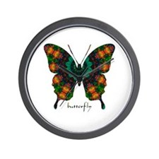 Power Butterfly Wall Clock