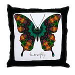 Power Butterfly Throw Pillow