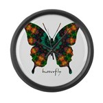 Power Butterfly Large Wall Clock