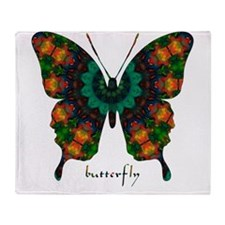 Power Butterfly Throw Blanket