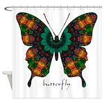 Power Butterfly Shower Curtain