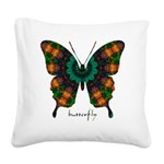 Power Butterfly Square Canvas Pillow