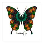 Power Butterfly Square Car Magnet 3