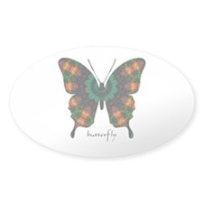 Power Butterfly Sticker (Oval)
