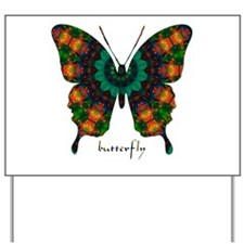 Power Butterfly Yard Sign