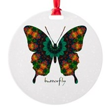 Power Butterfly Round Ornament