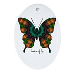 Power Butterfly Ornament (Oval)