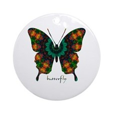 Power Butterfly Ornament (Round)
