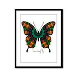 Power Butterfly Framed Panel Print