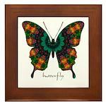 Power Butterfly Framed Tile