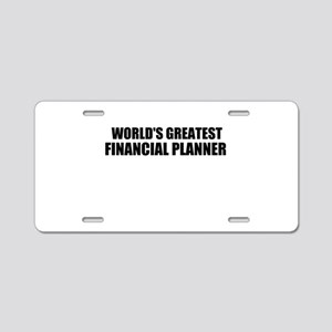 WORLDS GREATEST FINANCIAL PLANNER Aluminum License