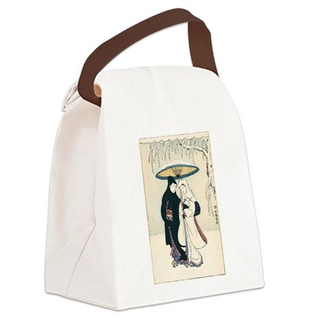 Winter Love Canvas Lunch Bag