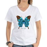 Redemption Butterfly Women's V-Neck T-Shirt