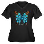Redemption Butterfly Women's Plus Size V-Neck Dark