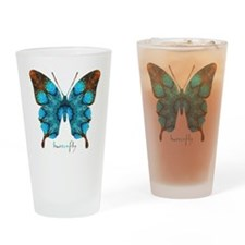 Redemption Butterfly Drinking Glass