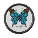 Redemption Butterfly Large Wall Clock