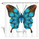 Redemption Butterfly Shower Curtain