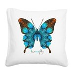 Redemption Butterfly Square Canvas Pillow