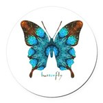 Redemption Butterfly Round Car Magnet