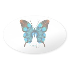 Redemption Butterfly Sticker (Oval)