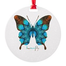 Redemption Butterfly Round Ornament