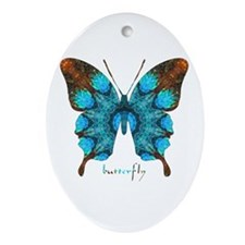Redemption Butterfly Ornament (Oval)