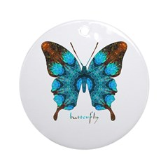 Redemption Butterfly Ornament (Round)