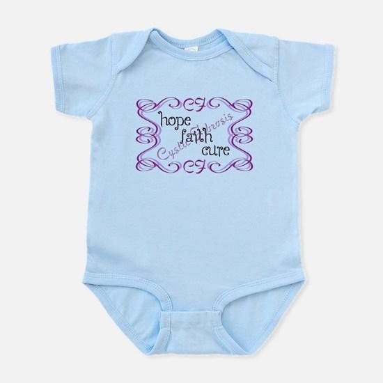 CF Hope Faith Cure Curls Infant Bodysuit