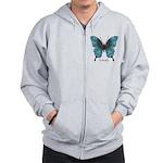 Transformation Butterfly Zip Hoodie
