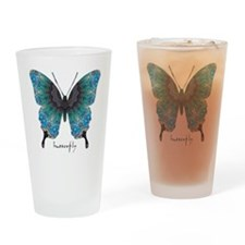 Transformation Butterfly Drinking Glass