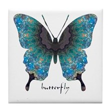 Transformation Butterfly Tile Coaster