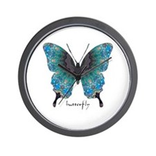 Transformation Butterfly Wall Clock