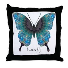 Transformation Butterfly Throw Pillow
