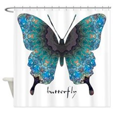 Transformation Butterfly Shower Curtain