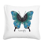 Transformation Butterfly Square Canvas Pillow
