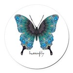 Transformation Butterfly Round Car Magnet