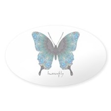 Transformation Butterfly Sticker (Oval)