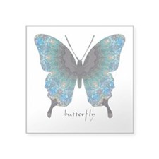 Transformation Butterfly Square Sticker 3