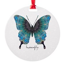 Transformation Butterfly Round Ornament